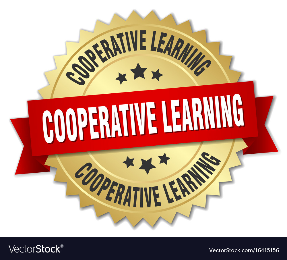 Cooperative learning round isolated gold badge