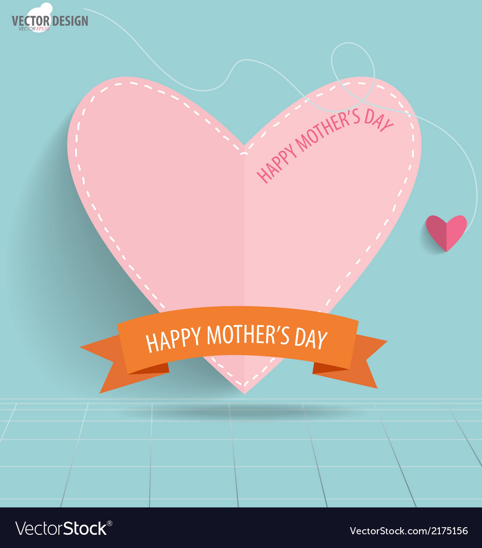 Happy Motherss Day paper hearts