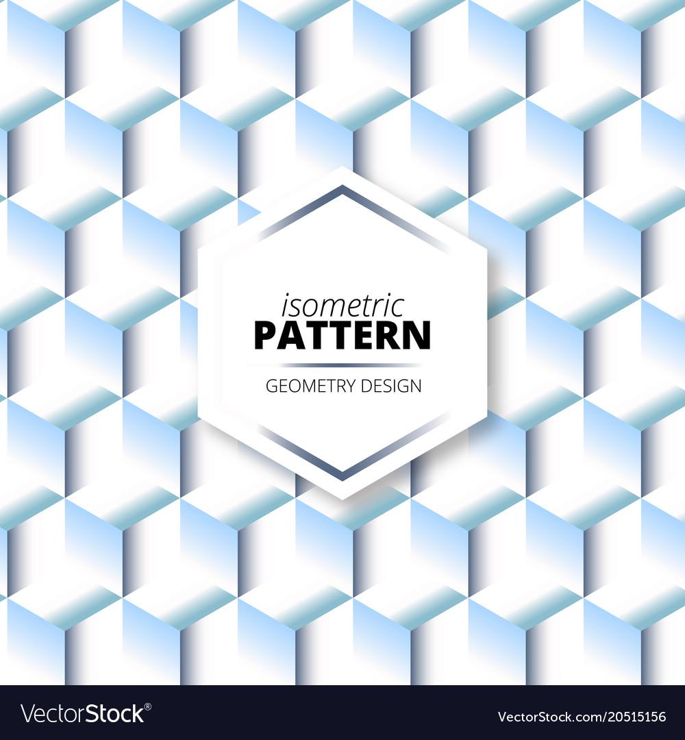 Isometric light degrade pattern design vector image