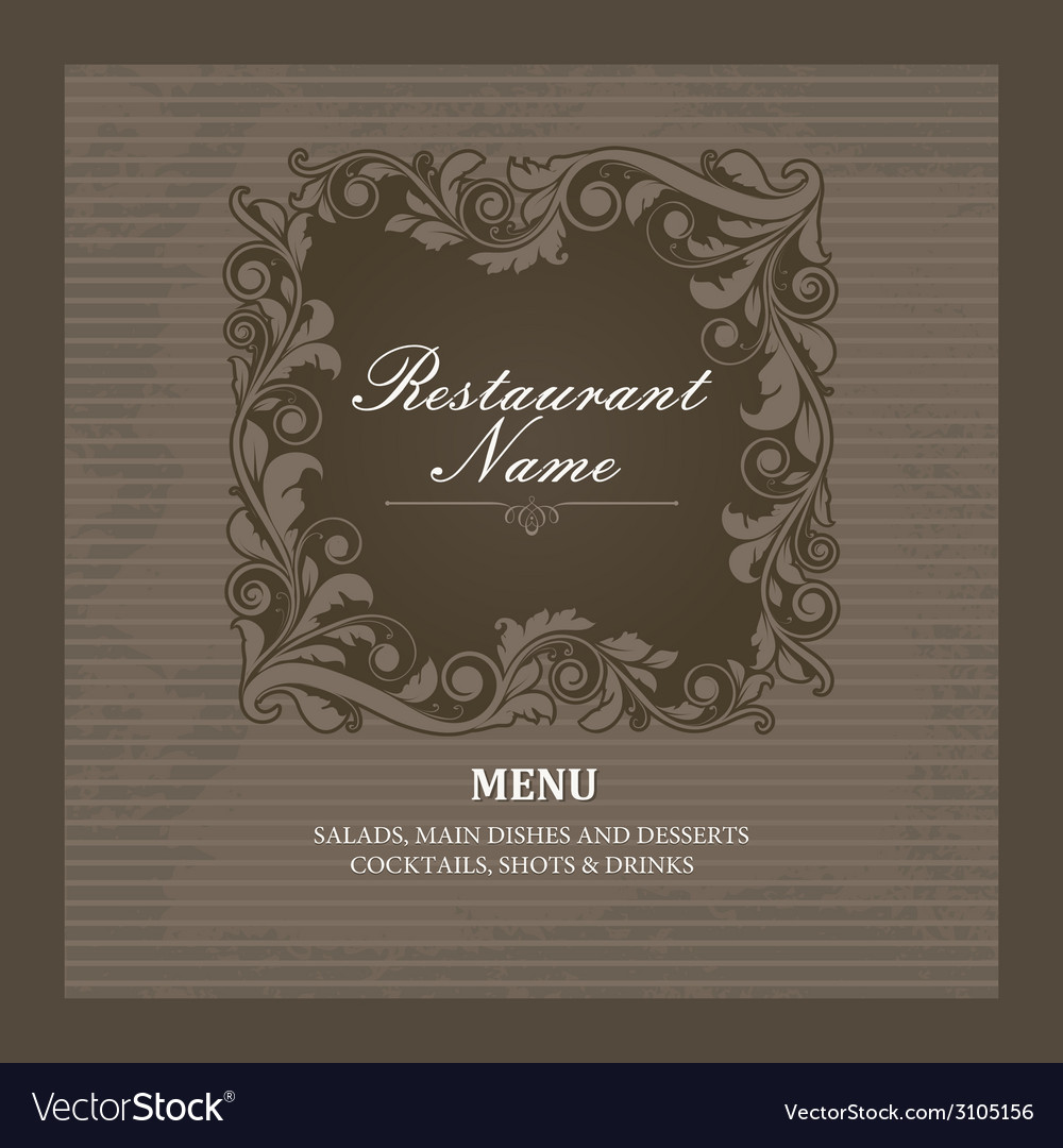 Restaurant menu book template