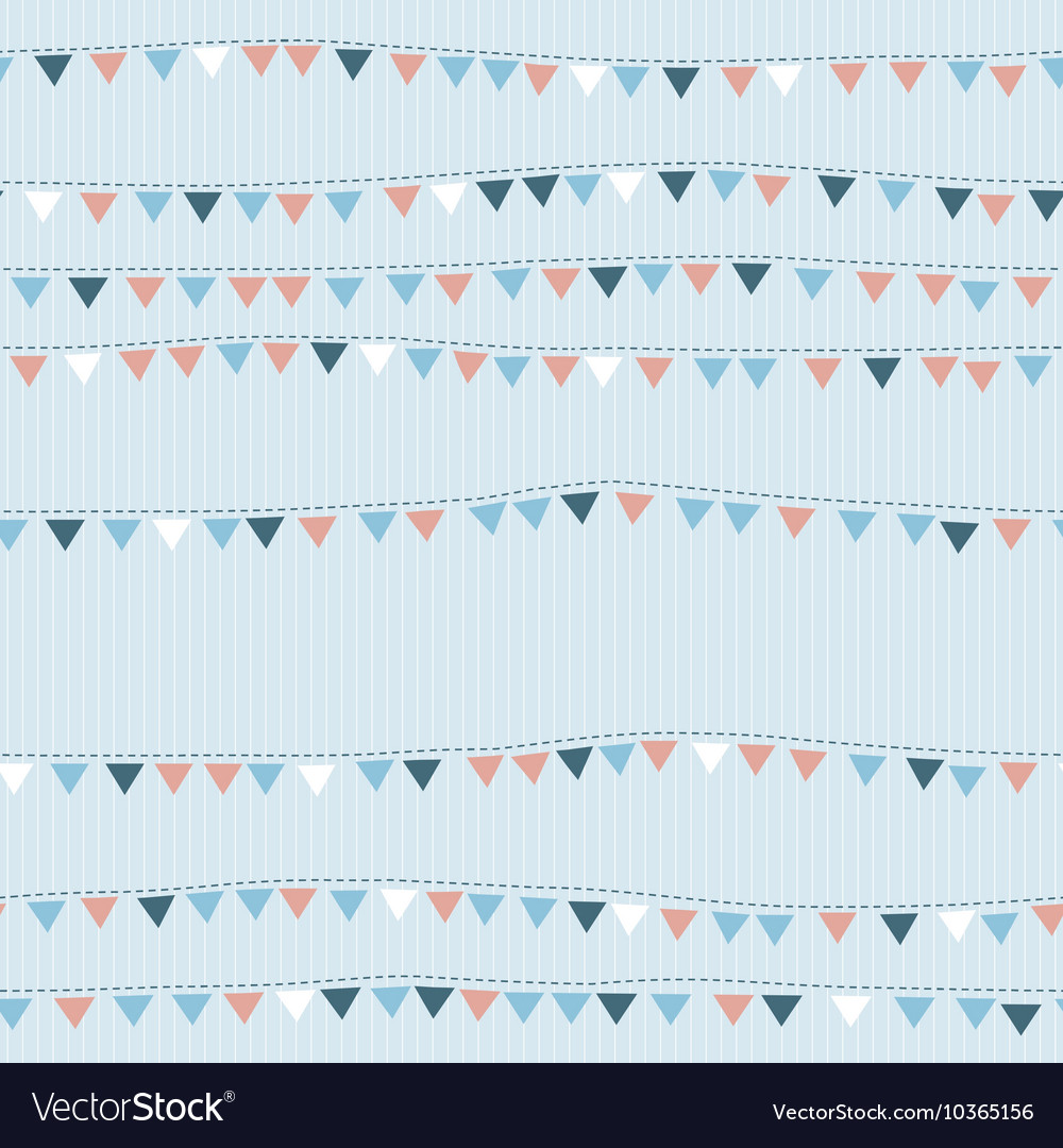 Seamless pattern with cute flags vector image