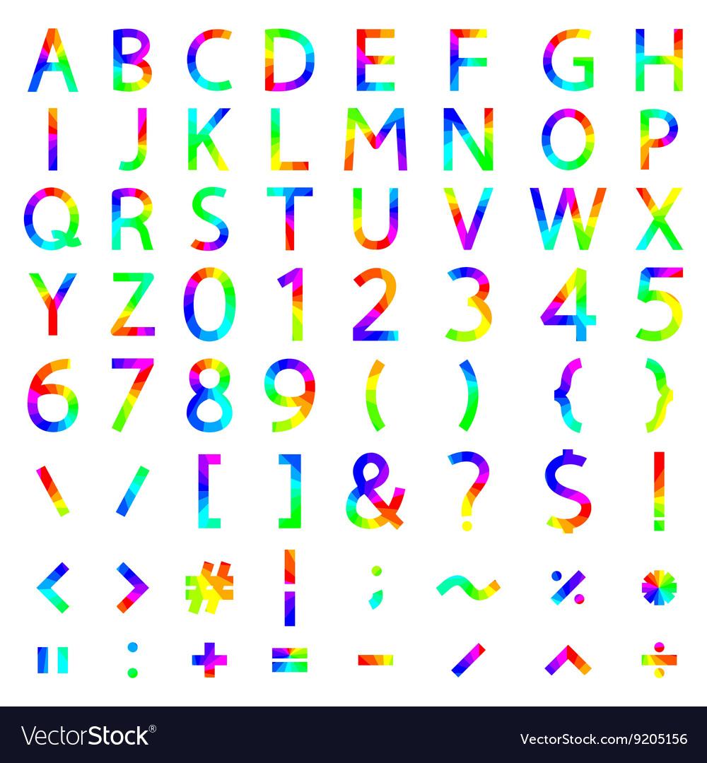Set of rainbow elements vector image