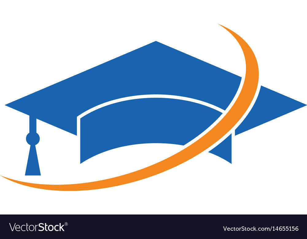 swirl graduation hat logo image royalty free vector image rh vectorstock com graduation cap logo design graduation cap logo ideas