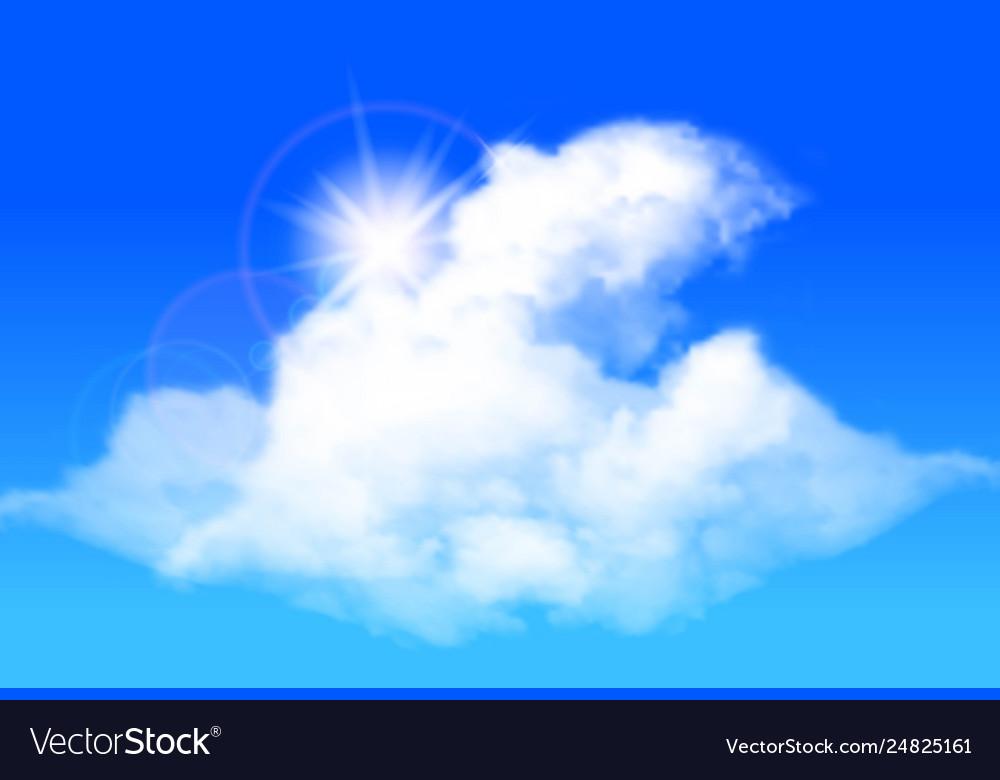 Clouds against a bright blue sky