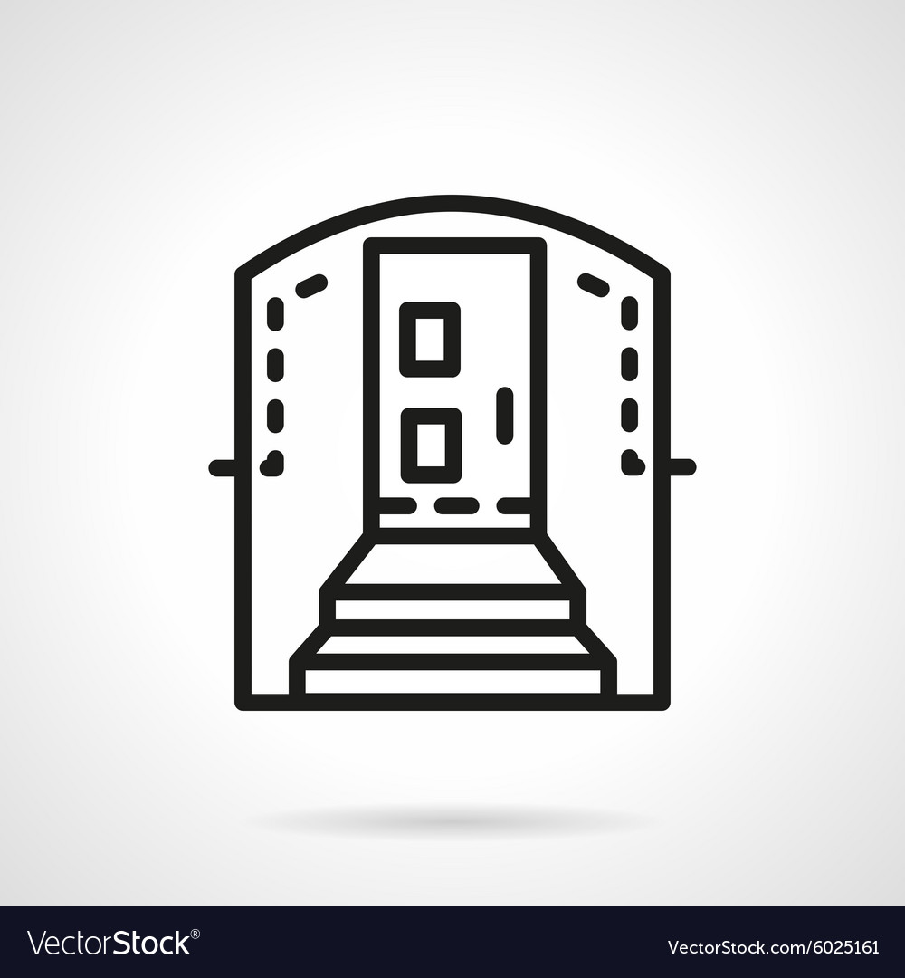 Housing entrance simple line icon
