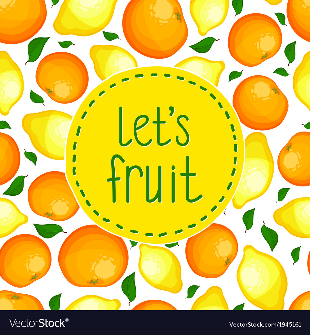 Seamless pattern from lemons and oranges
