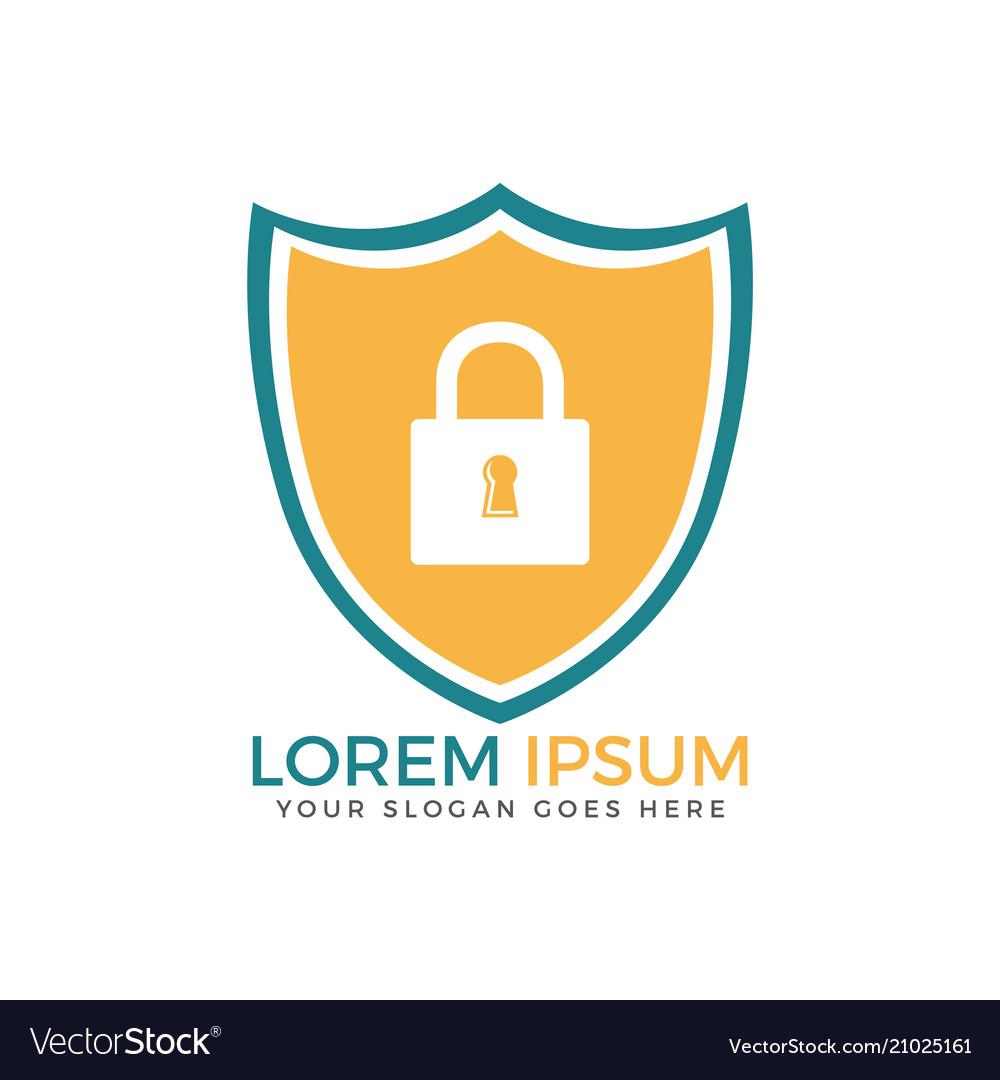 Security technology padlock shield internet