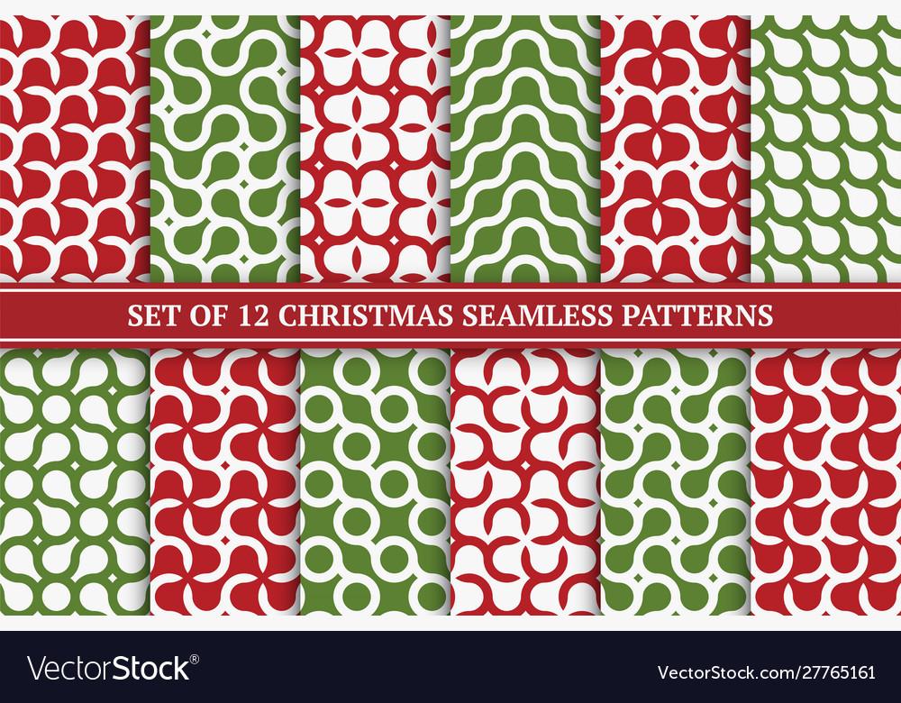 Set seamless geometric colorful patterns