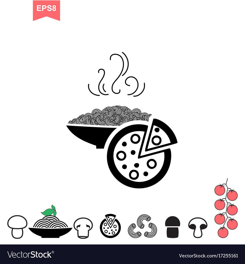 Spaghetti or noodle icon