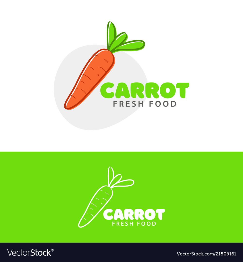 Carrot Template | Template Logo For Carrot Fresh Food Royalty Free Vector