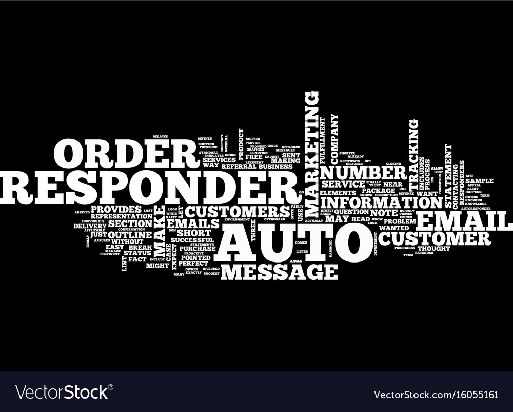 The autoresponder outline text background word