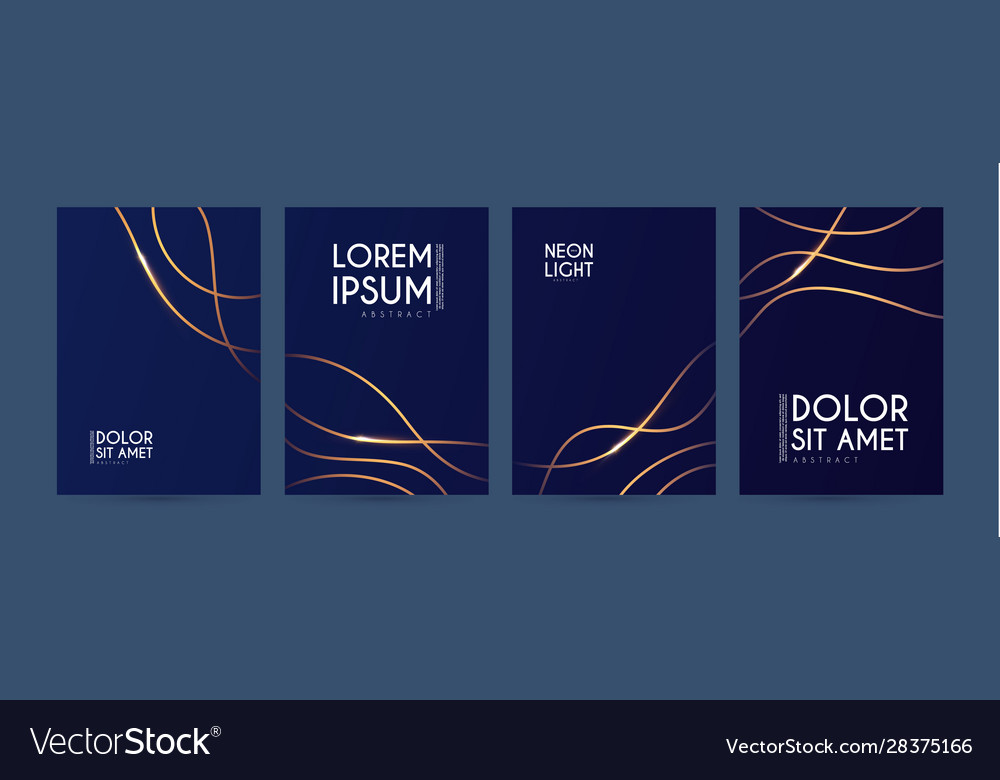 Abstract geometric flyer collections with light