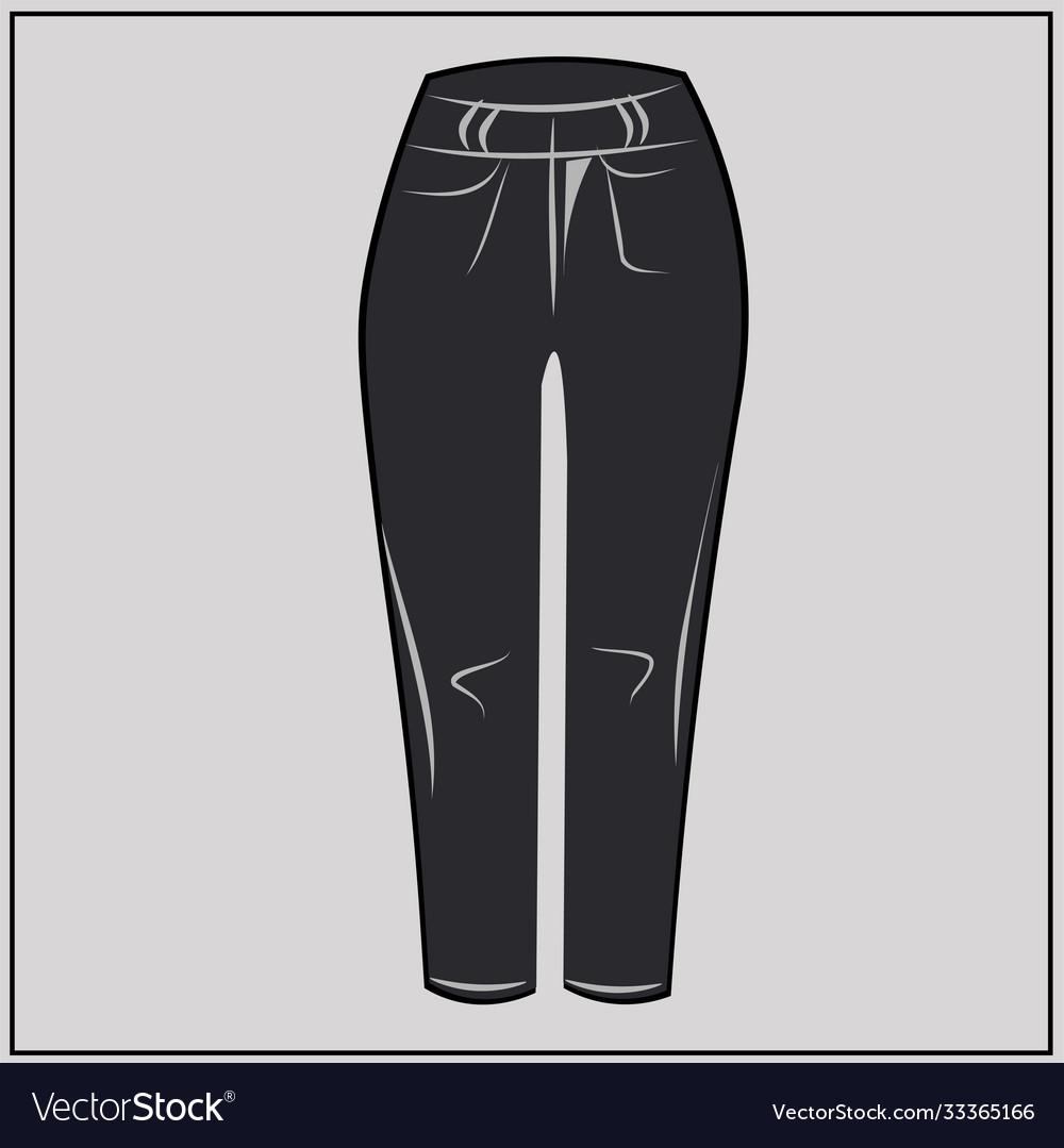 Black jeans classic denim oversize fashion