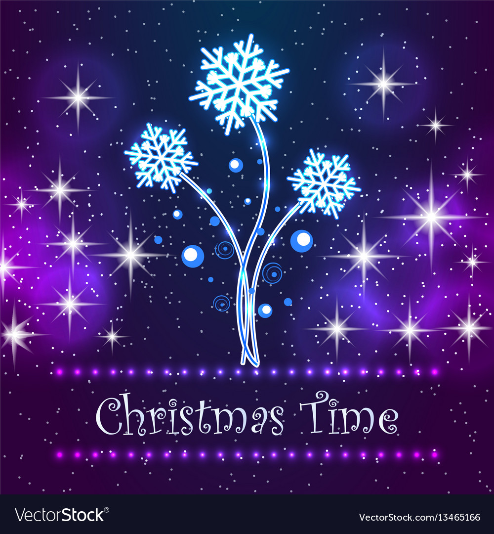 Christmas time card for holidays vector image