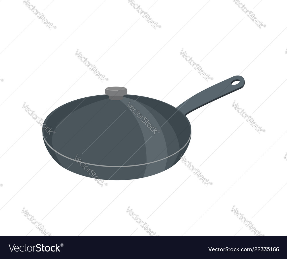 Frying pan with lid pan is closed with cover