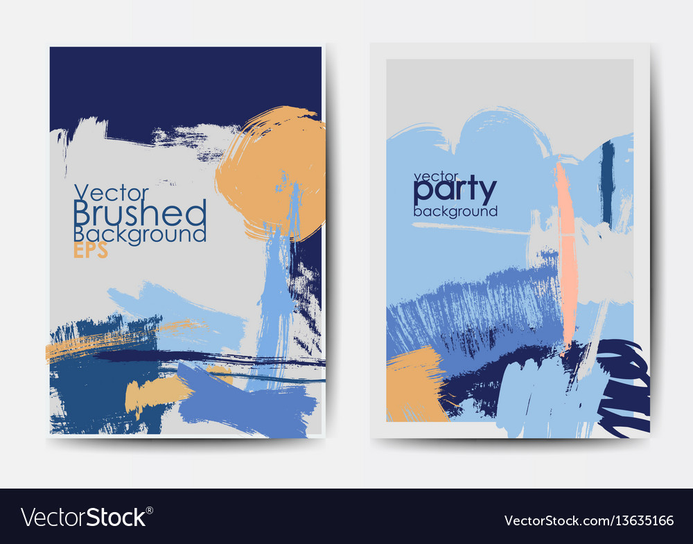 grunge brushed postcards template royalty free vector image