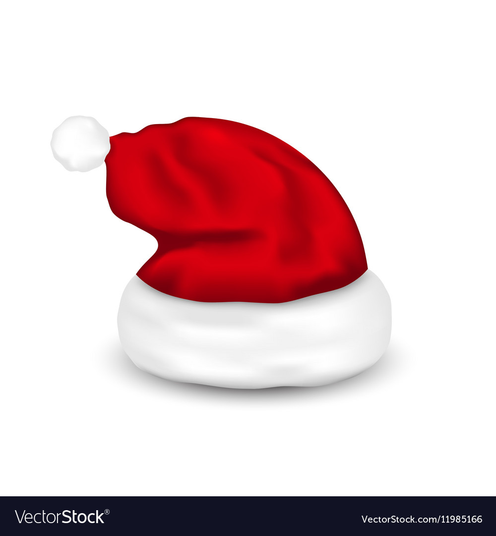 Hat Santa Claus Isolated On White Background Vector Image 7f075861b91c