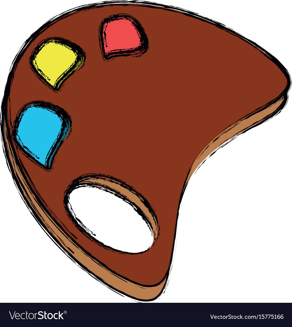 Paint palette cartoon vector image