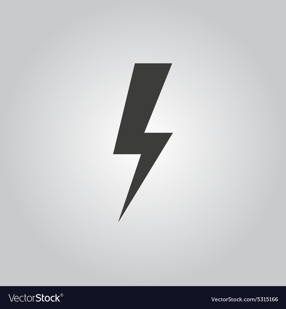 The lightning icon Power symbol Flat