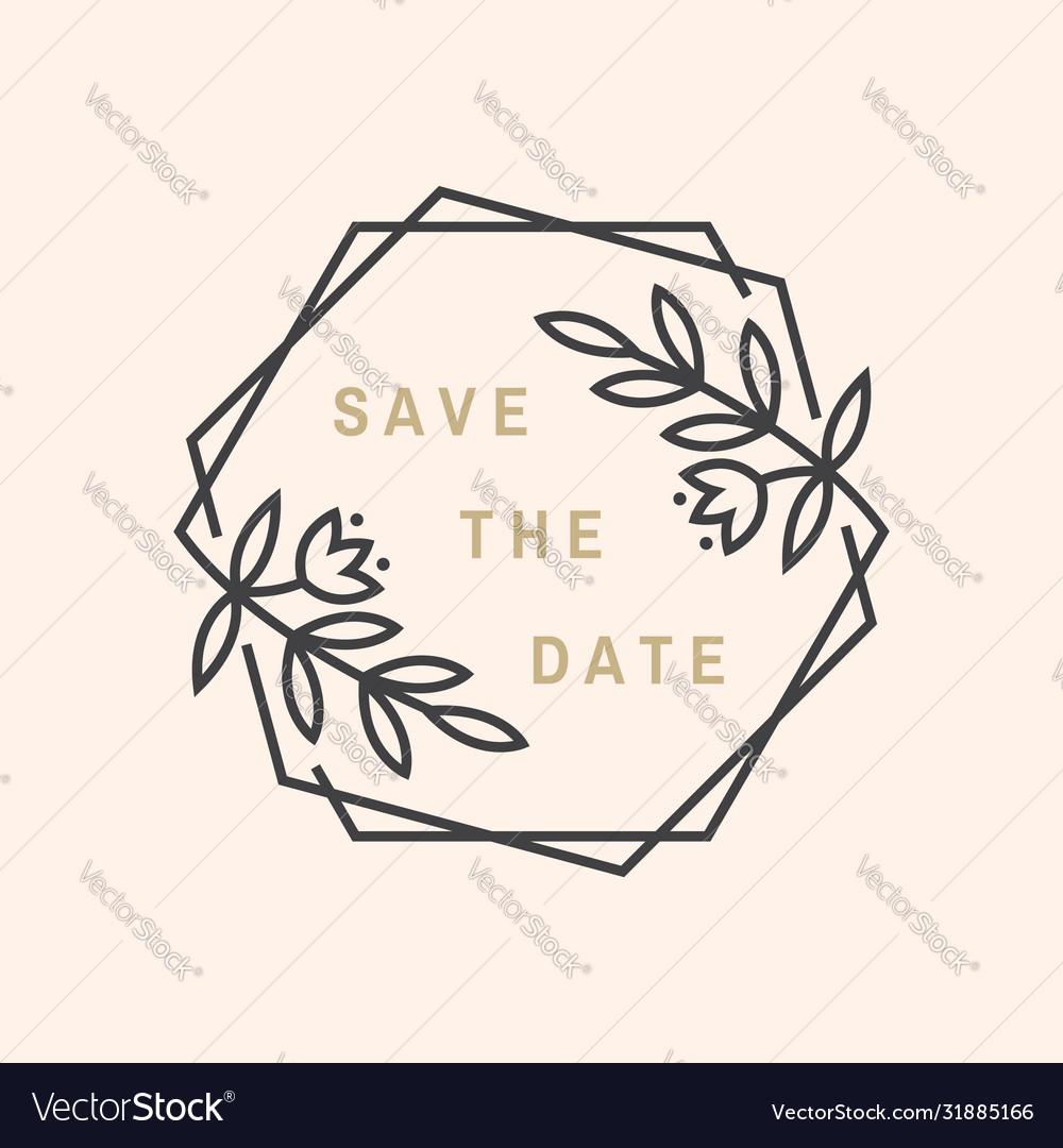 Wedding invitation card template thin