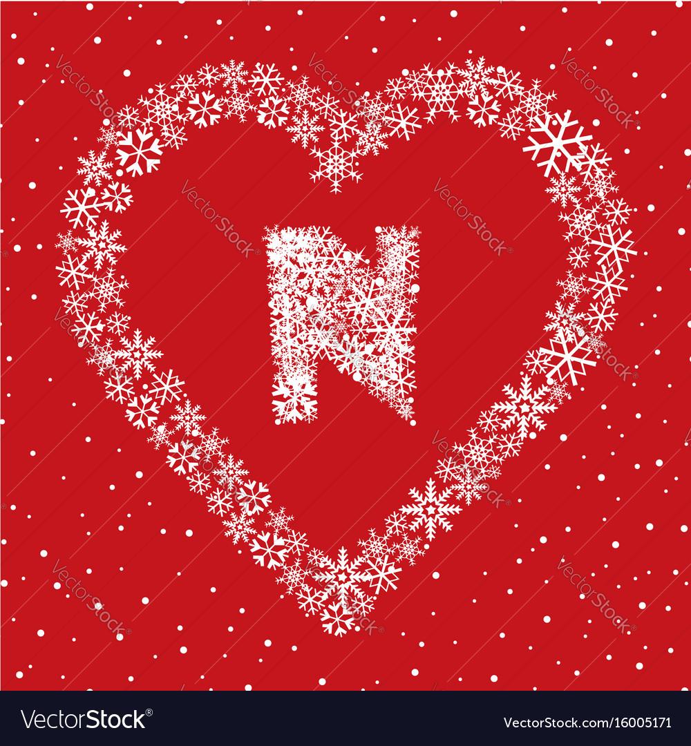 Alphabet christmas winter holiday decor latin