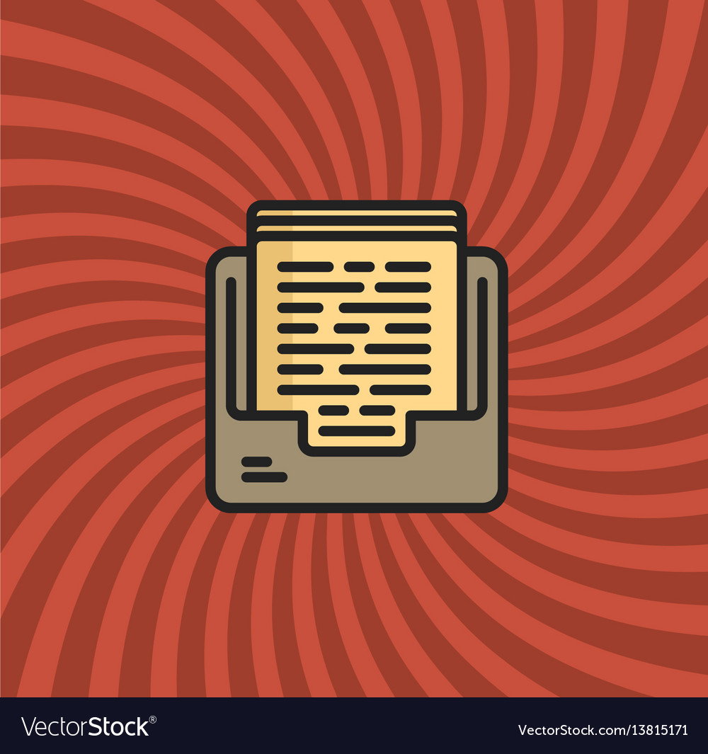 Archive documents icon simple line cartoon vector image