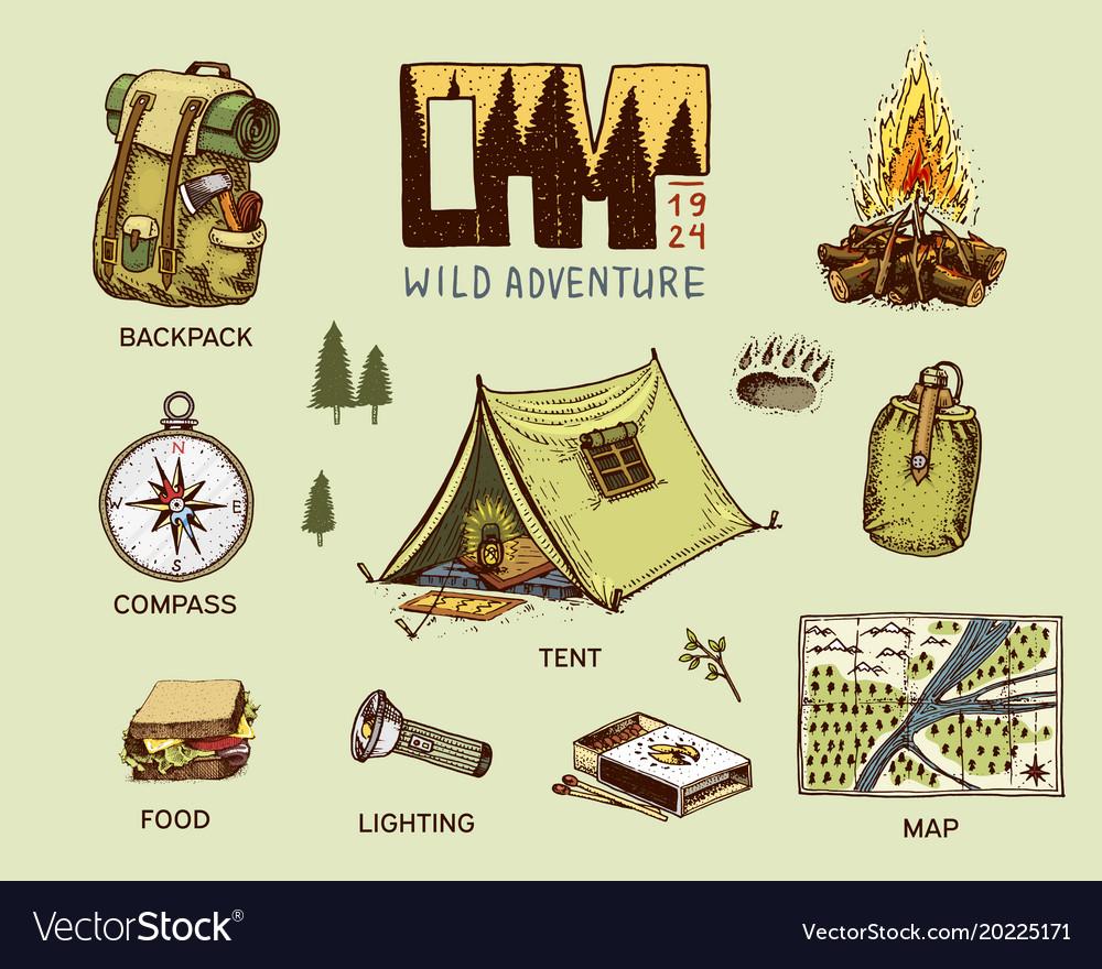 new styles 40b23 6db29 Camping equipment set outdoor adventure hiking
