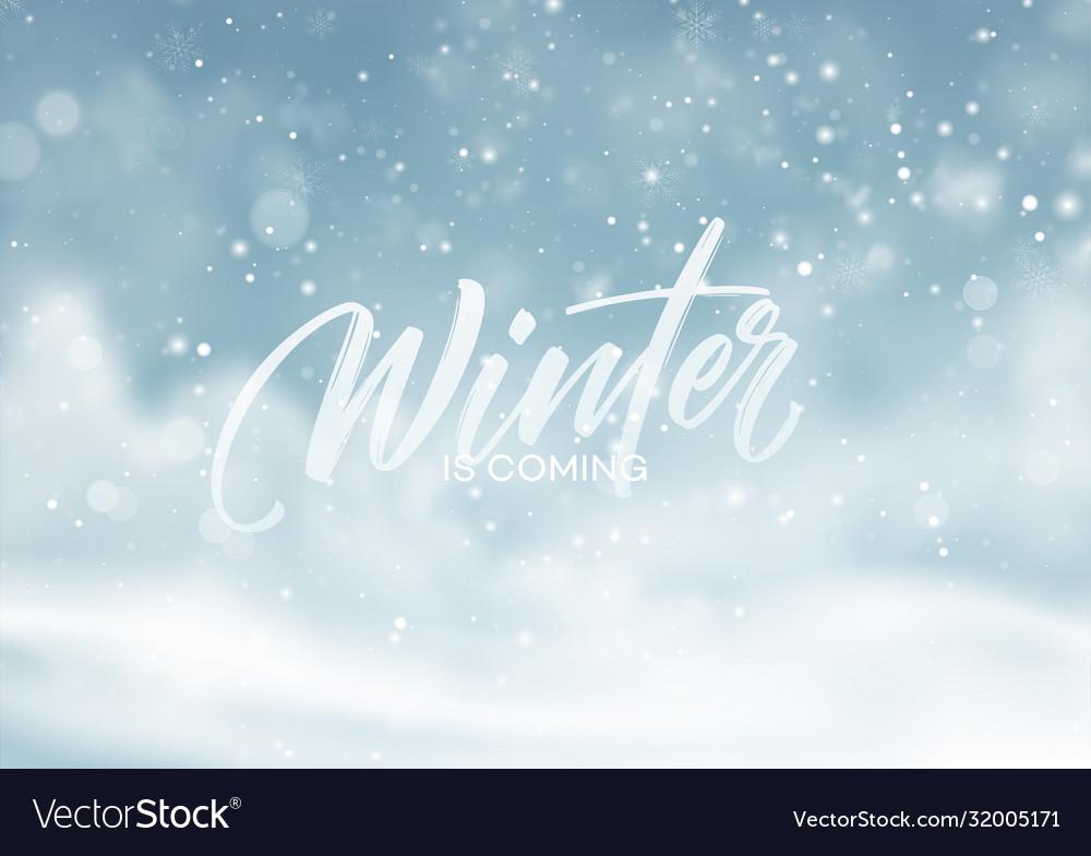 Christmas winter snowy landscape background