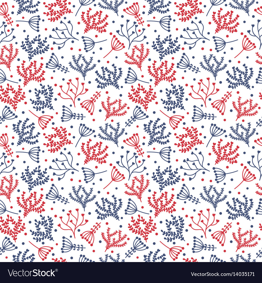 Cute background seamless floral pattern vector image