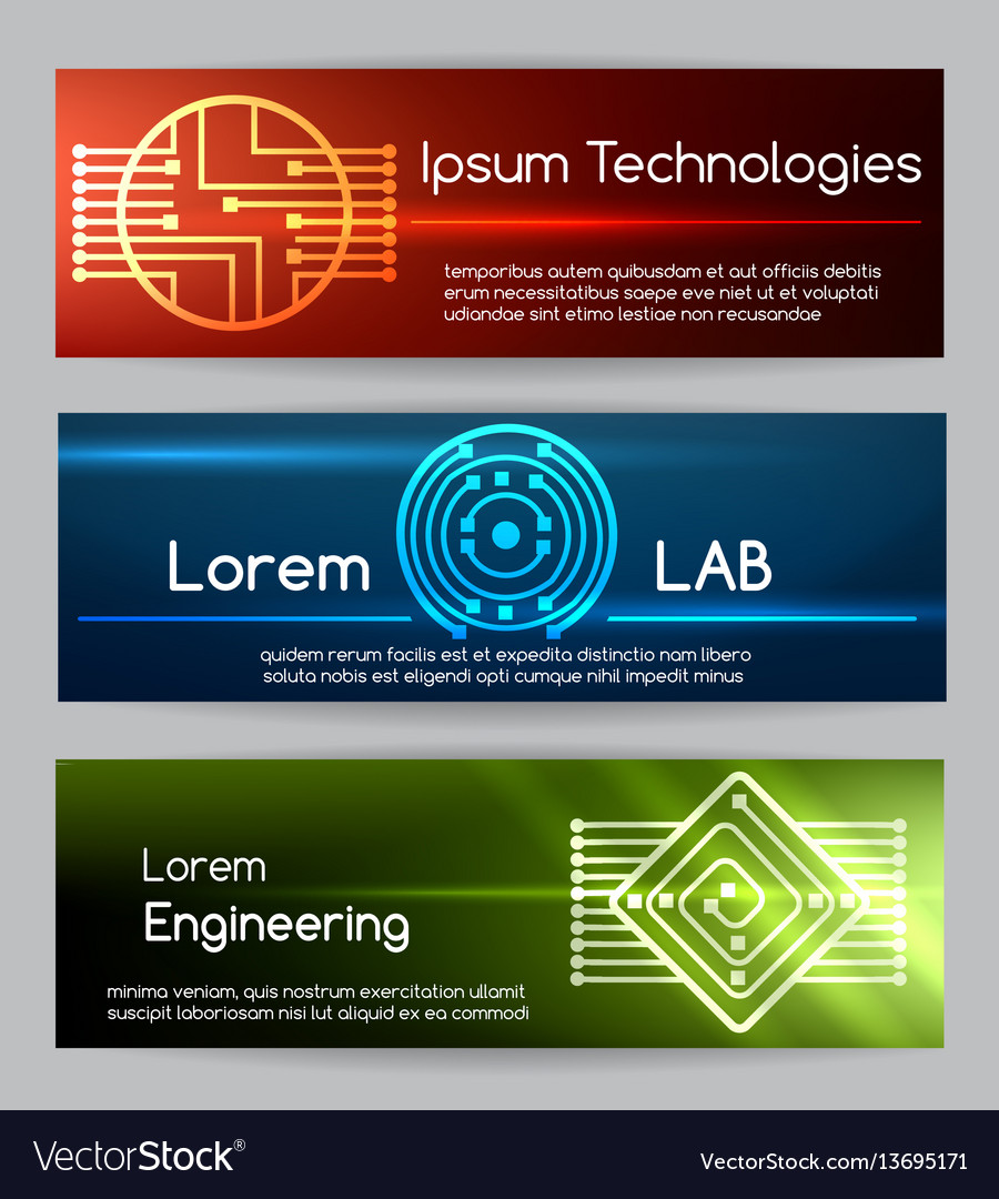 Digital engineering banner set computer