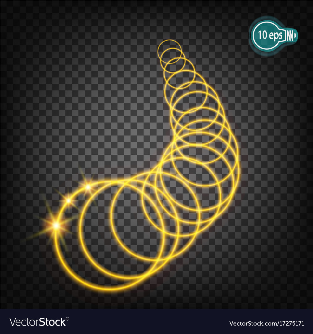 Glow of charged particles star with a