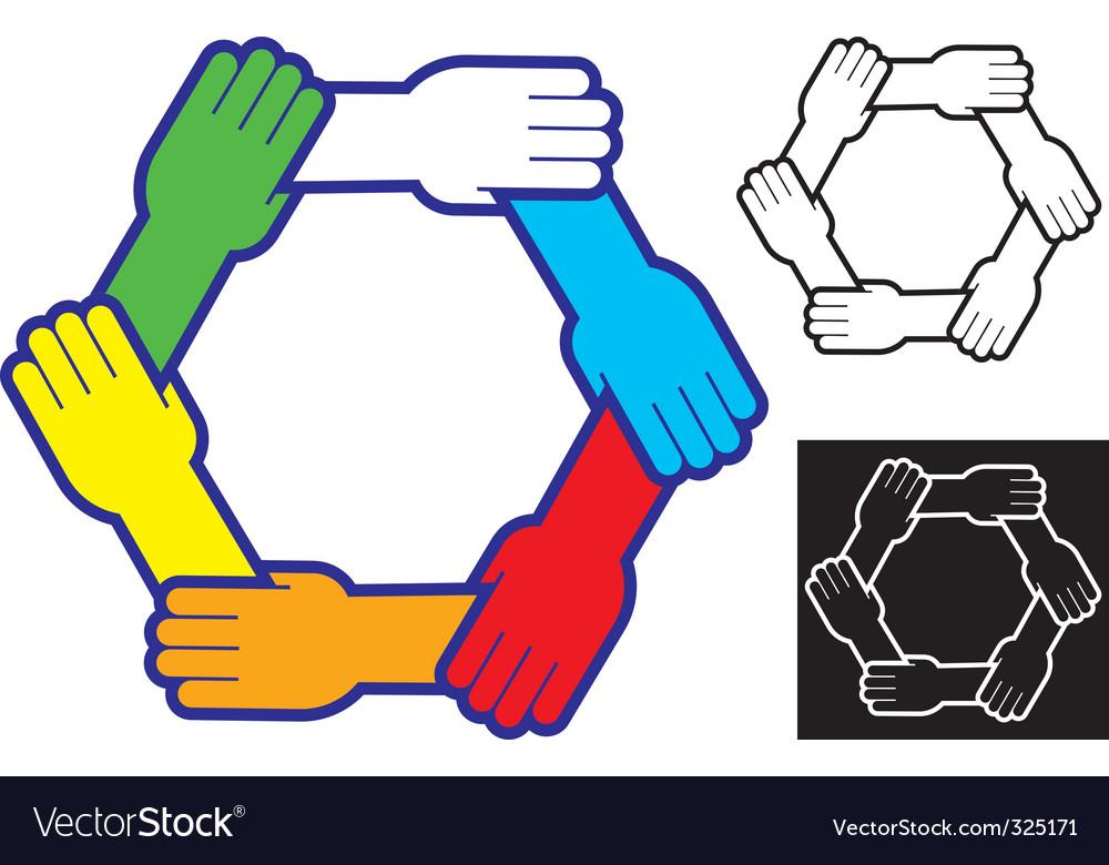 helping hands royalty free vector image vectorstock rh vectorstock com vector hands holding vector handsaw