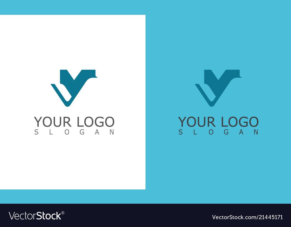 Leter v logo