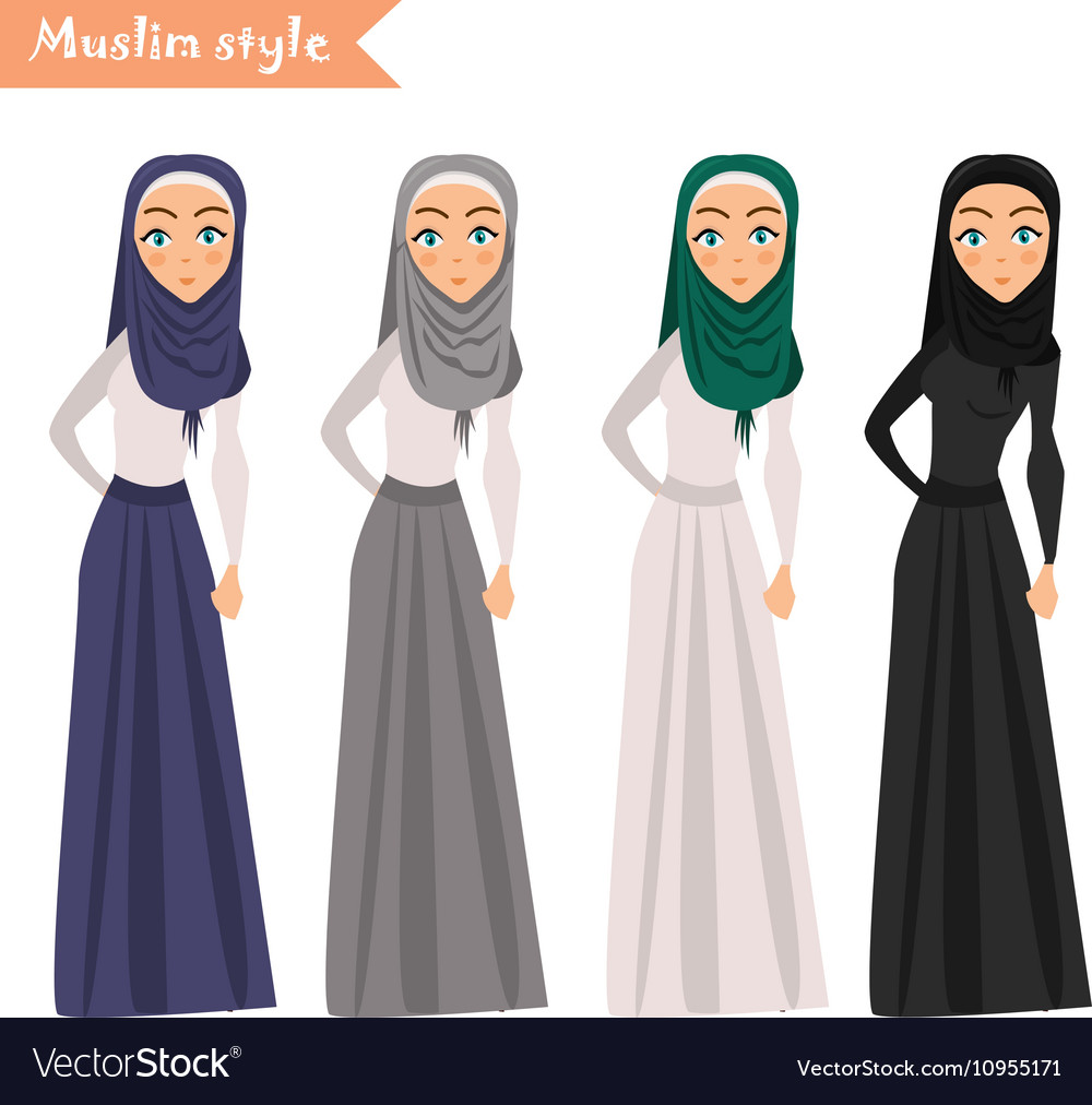 Muslim woman wears hijab
