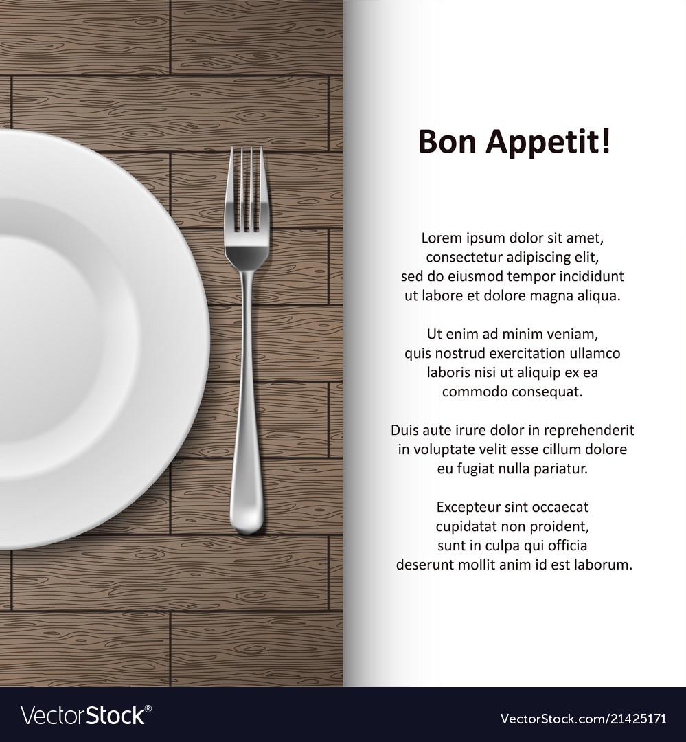 Restaurant menu poster design cutlery shop banner