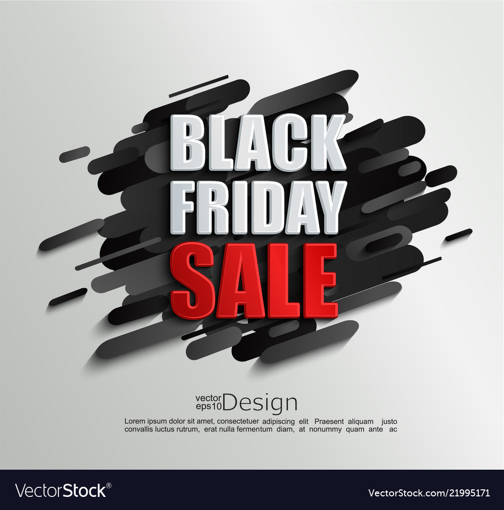 Sale banner for black friday on dynamic background