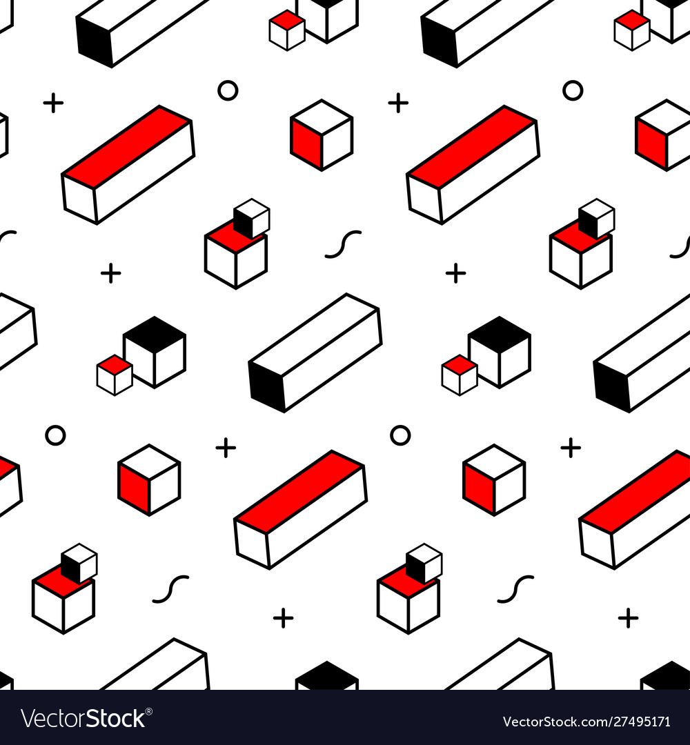 Seamless pattern with geometric elements modern