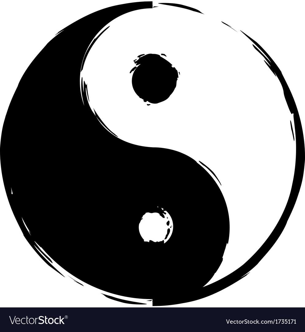 Symbol Of Yin Yang Royalty Free Vector Image Vectorstock