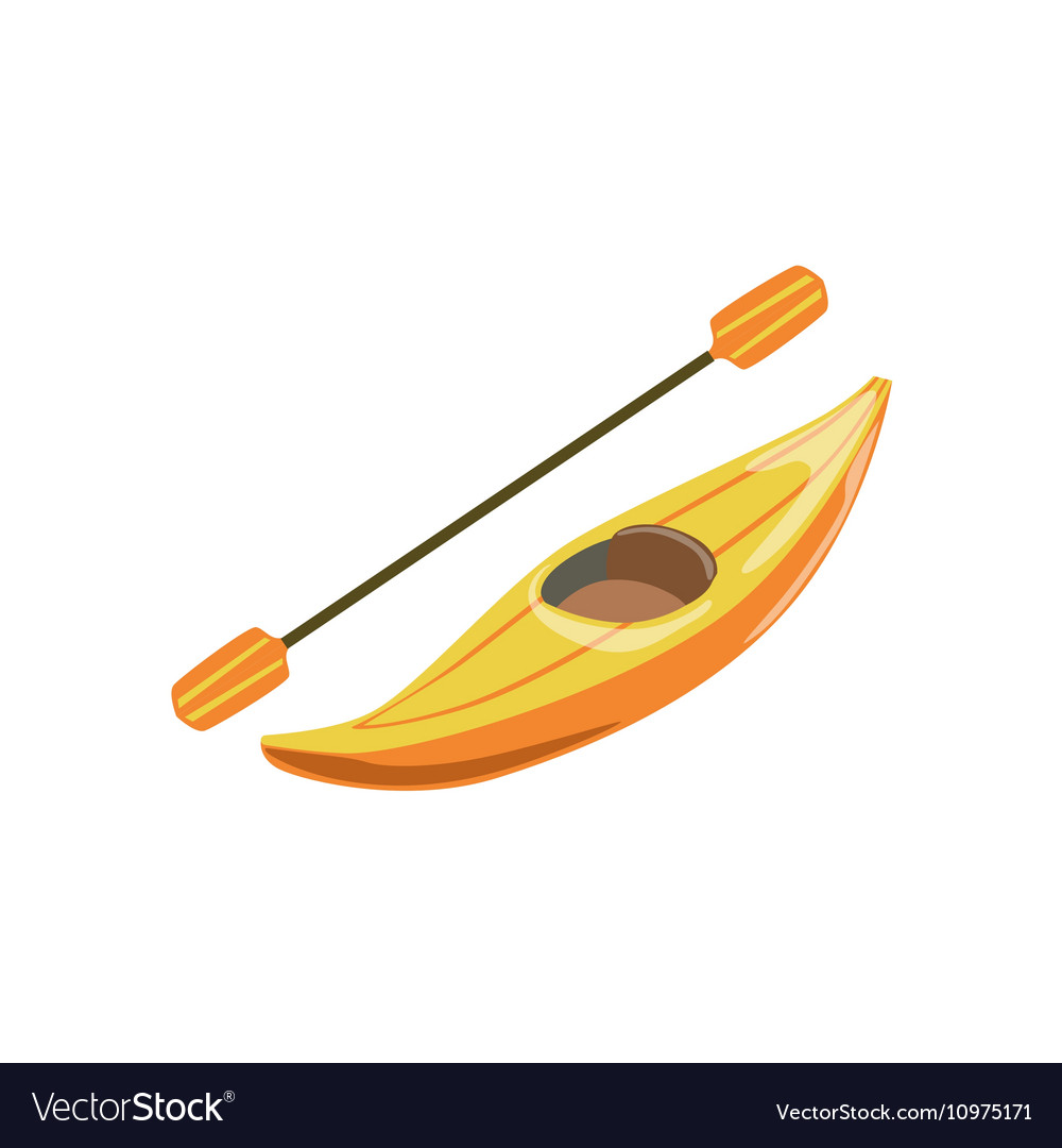 Yellow Plastic One Person Canoe Type Of Boat Icon