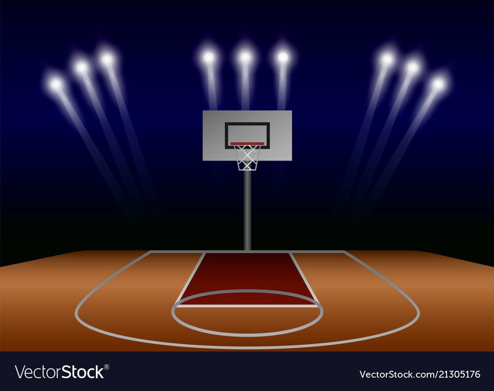 Basketball Spotlight Field Concept Background Vector Image