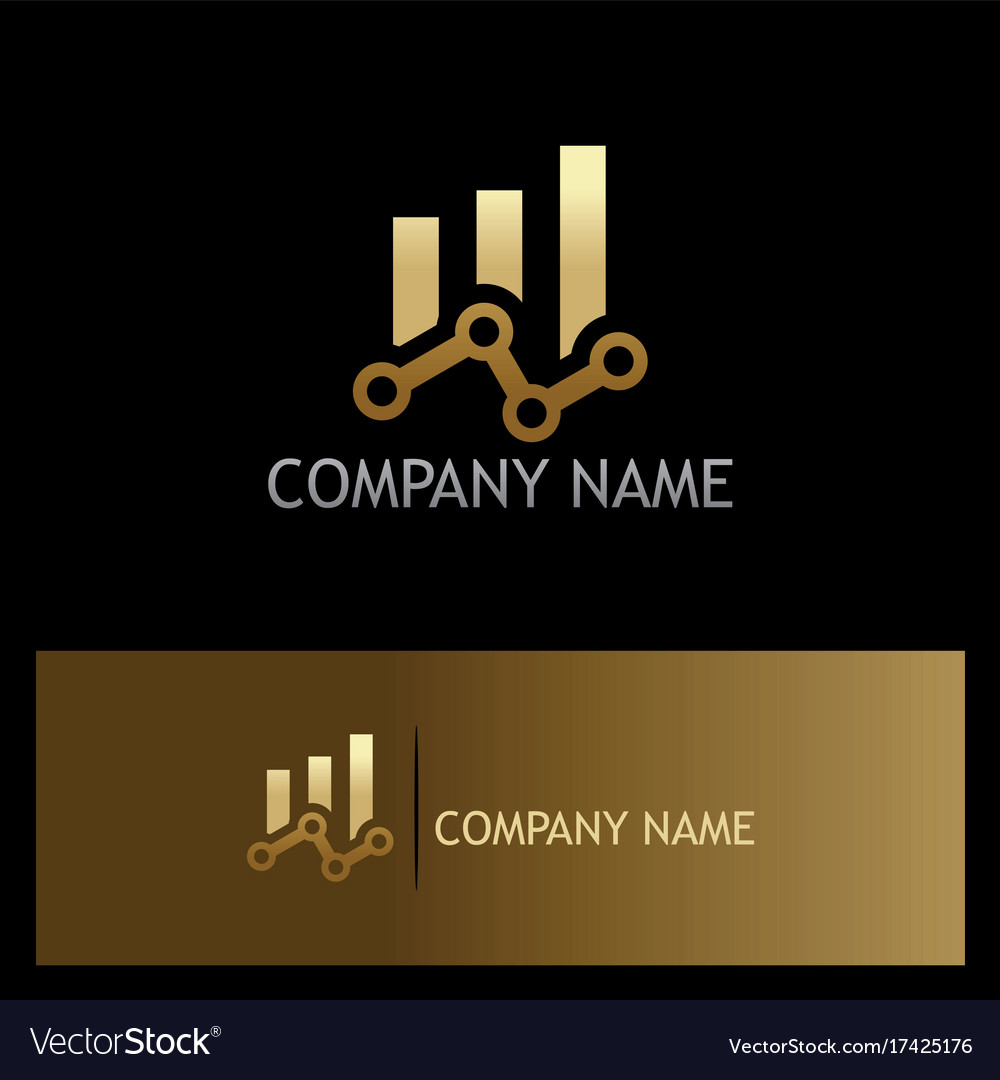 Chain progress business finance gold logo