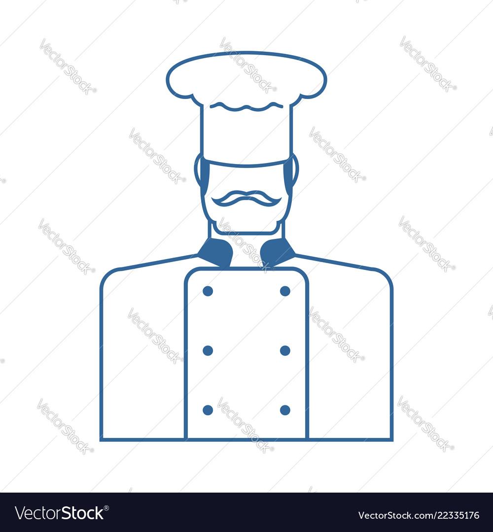 Chef icon cuisinier sign chief-cooker symbol