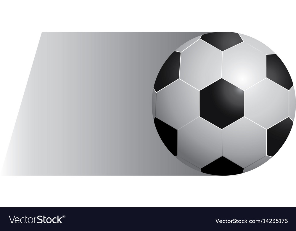 Colorful background of fast moving soccer ball vector image