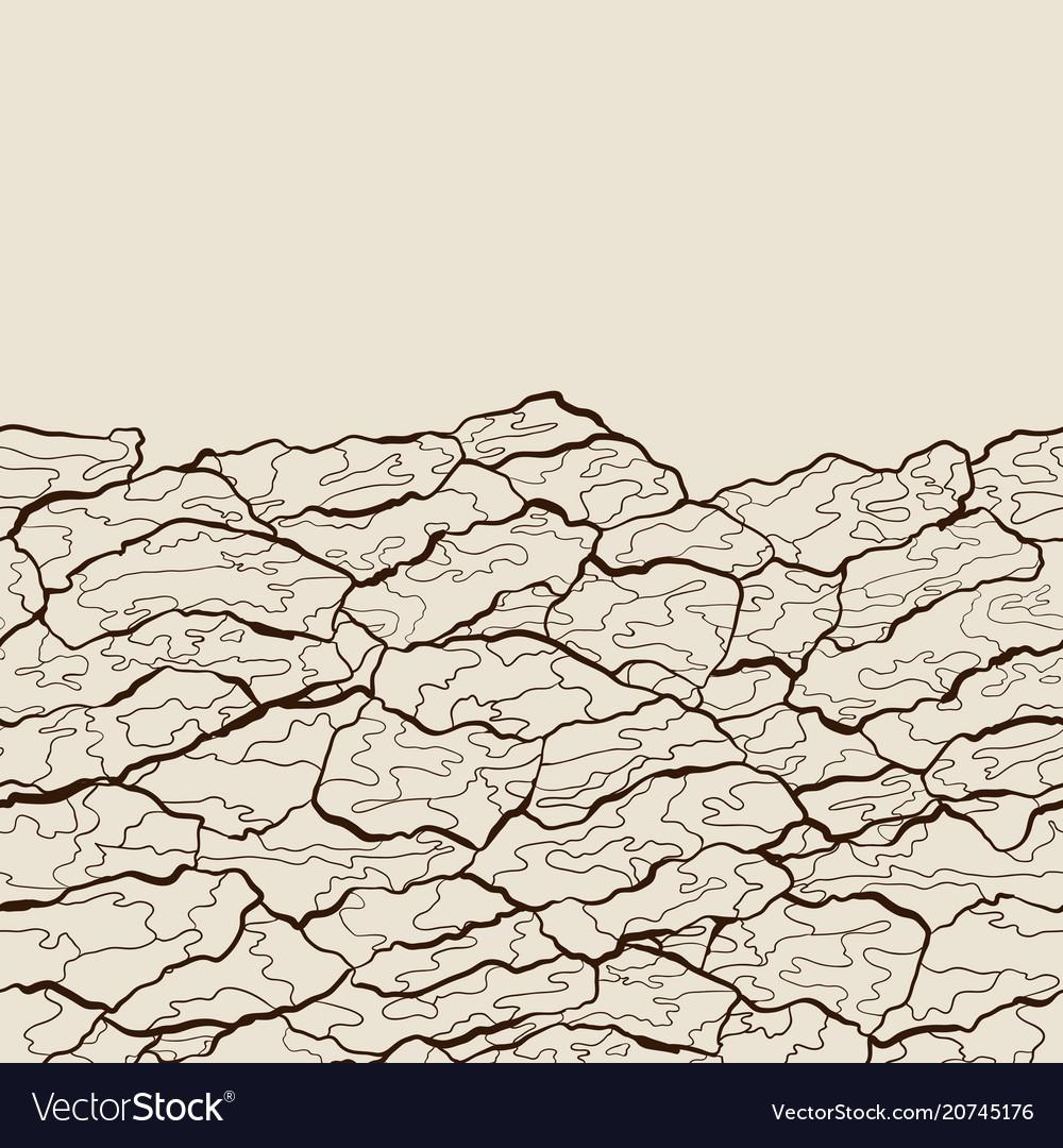 Seamless pattern of bark texture wood