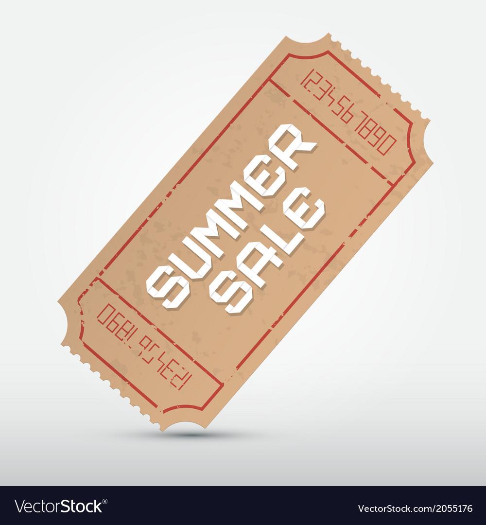 Summer Sale Ticket