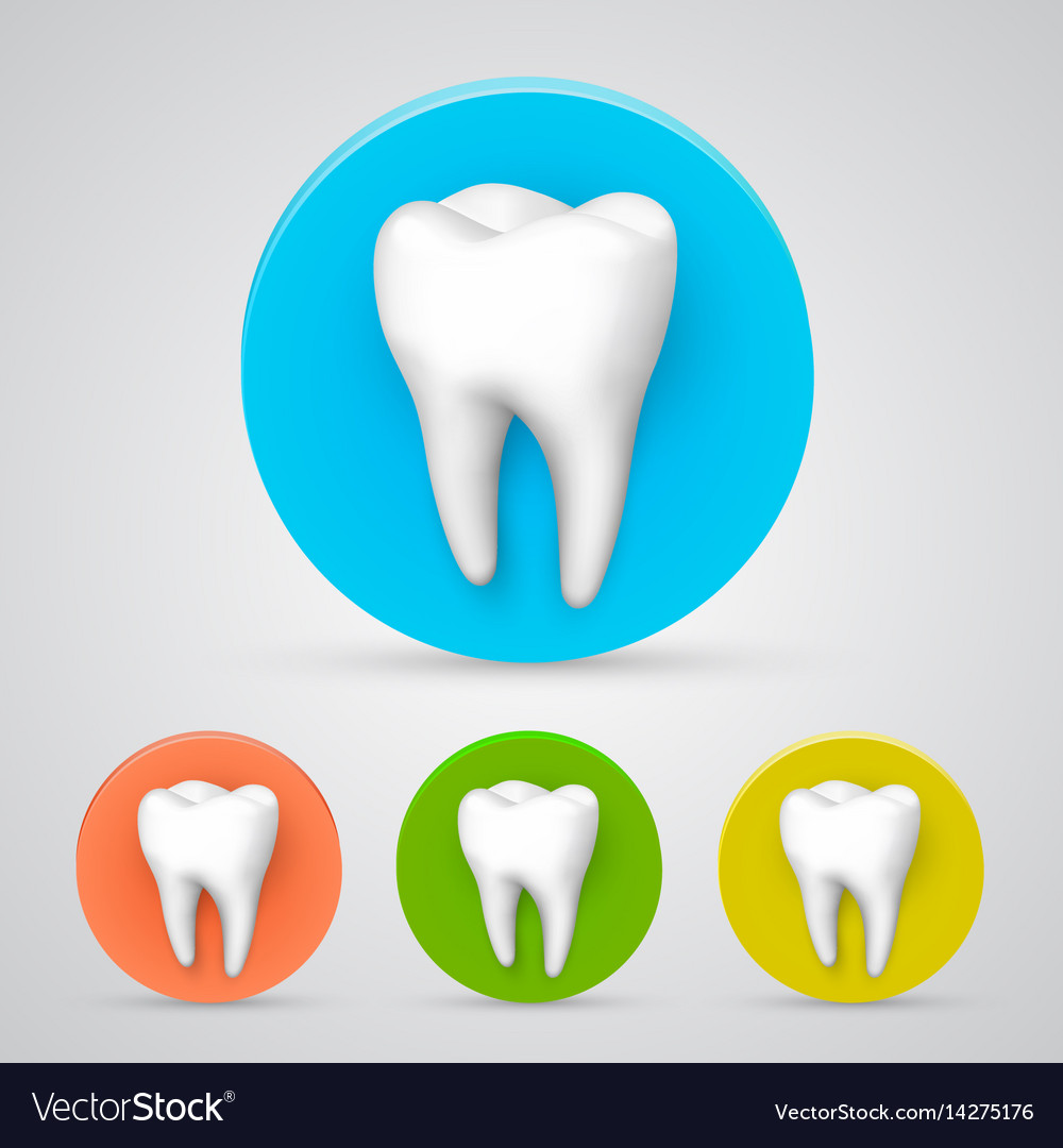 Tooth set color collection template design