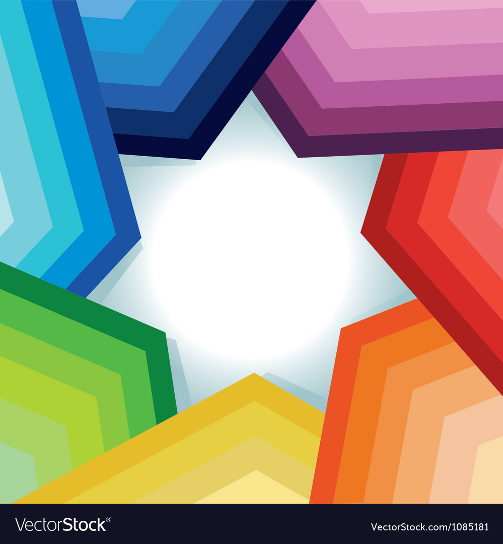 Abstract background with rainbow and star