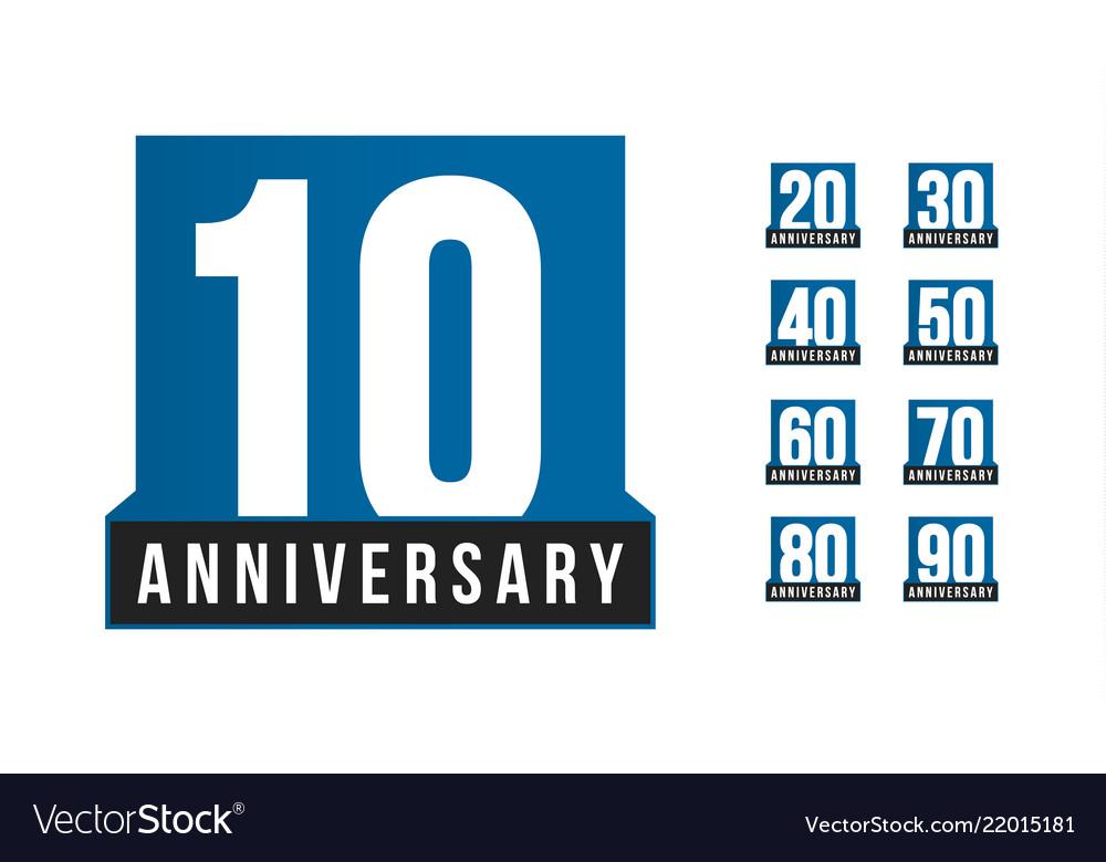 Anniversary icon birthday logo template