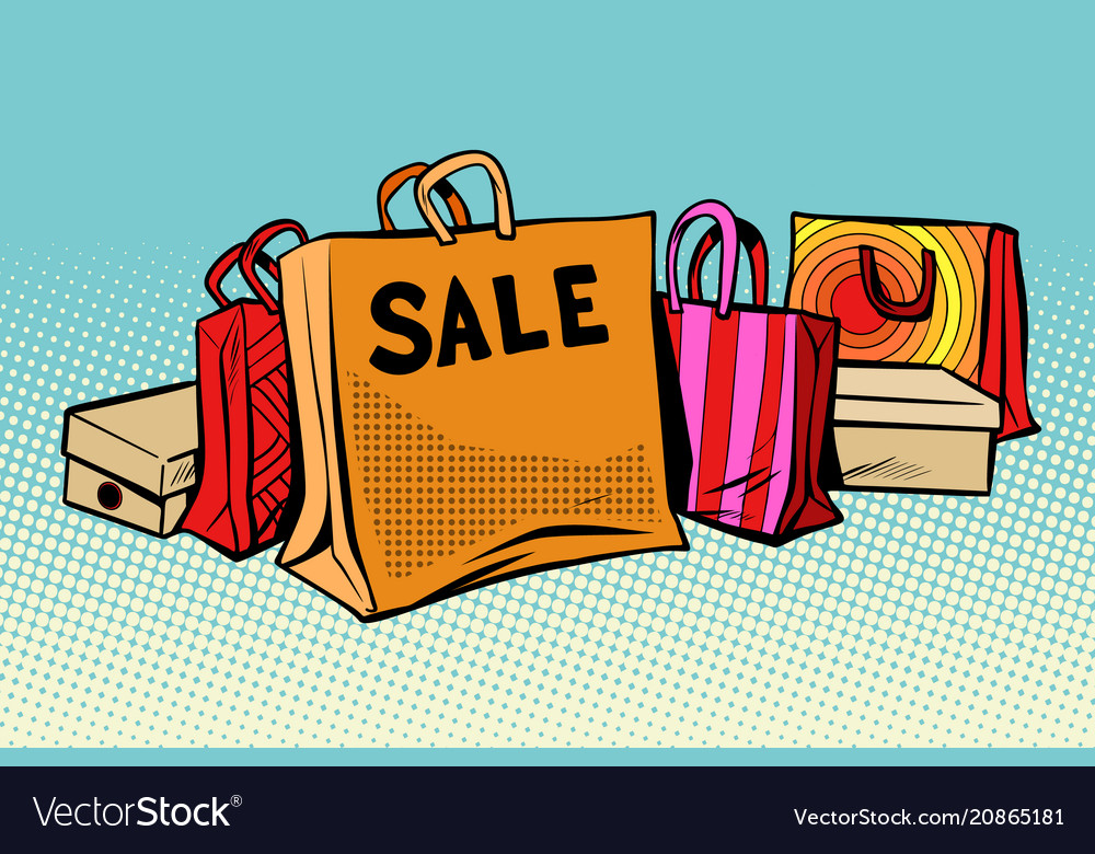 Bags sale season discount background
