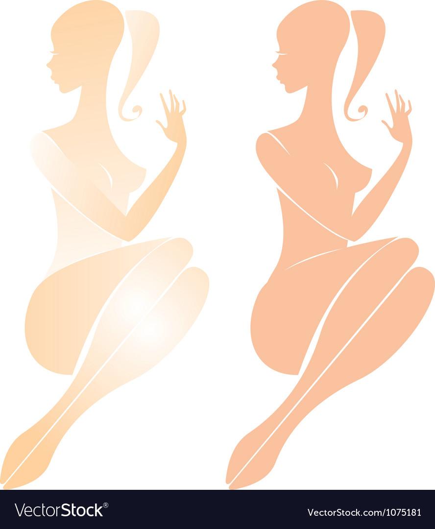 Beautiful nude female figure vector image